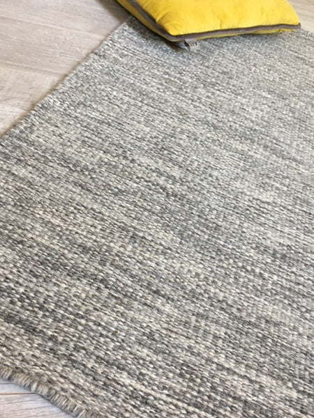 KLARA Silver Grey Wool Rug 6 sizes