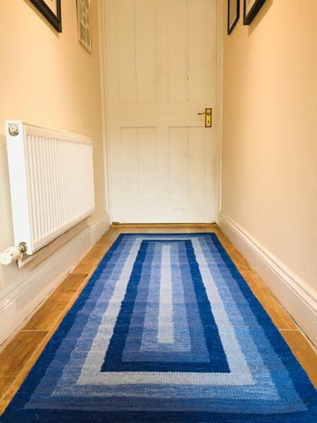 SARA Blue Geometric Runner