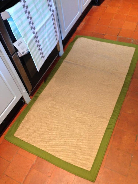 TUFF Natural Jute Rugs with Cotton Borders