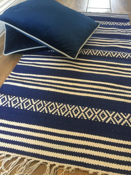 YSTAD Traditional Swedish Design Cotton Rug 2 colours 5 sizes