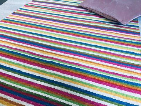 ELENA Multicoloured Cotton Rug 3 sizes
