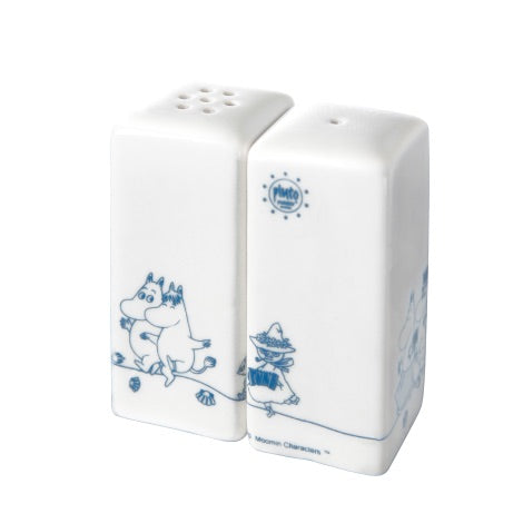 Moomin Salt & Pepper Shakers Blue/White