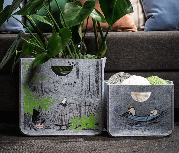 "MUURLA Recycled PET Storage Baskets ""Gone Fishing""  or ""In the Wild"""
