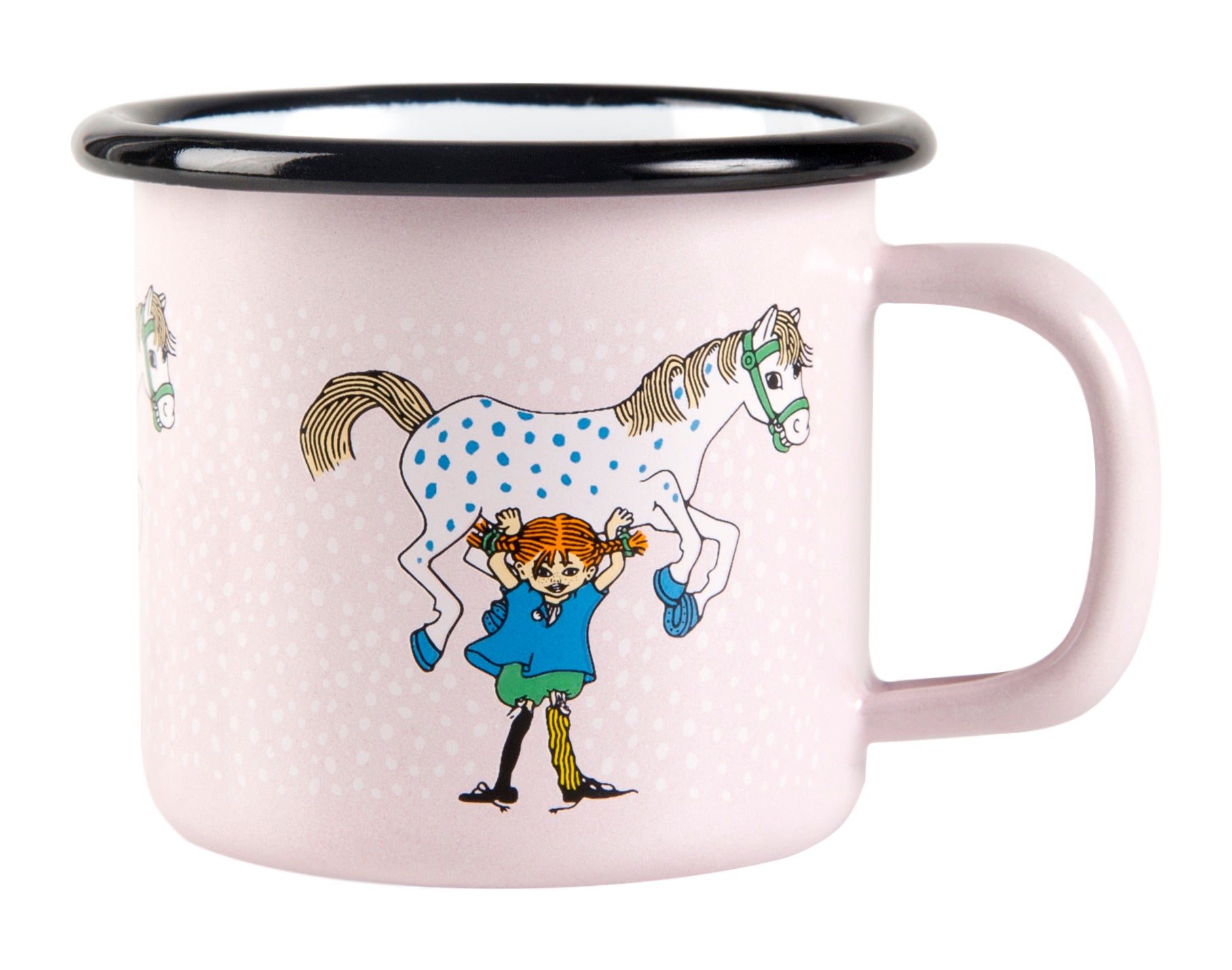 MUURL Pippi Långstrump 'Pippi and the Horse' Enamel Cup Toddler Size 1.5dl
