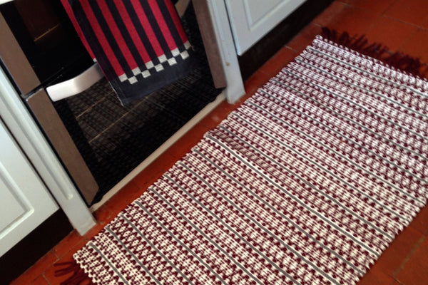 Scandi Plum handwoven cotton rug