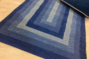 SARA Swedish Blue Cotton Rug 5 sizes