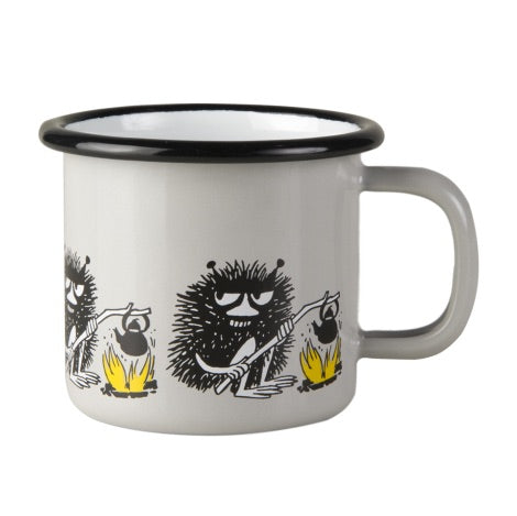 "Moomin Friends ""Stinky"" Enamel Mug 1.5 dl Toddler Size"