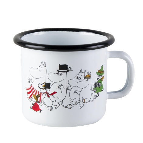 "Moomin ""Moomin Valley"" Enamel Mug 1.5 dl Toddler Size"