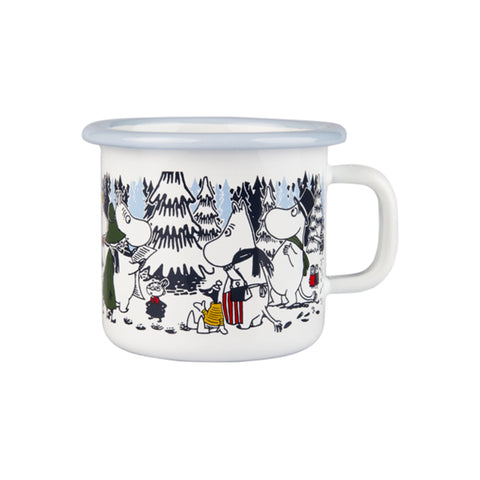 "Moomin ""Winter Forest"" Enamel Mug 2.5 dl"