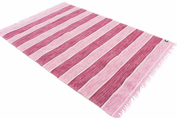 STYRSÖ PINK Swedish 100% Cotton Trasmattor Rugs in Mauve/Pink/White in 5 sizes