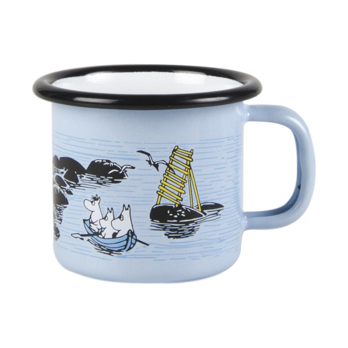"Moomin Friends ""Summer Wind"" Enamel Mug 1.5 dl Toddler Size"