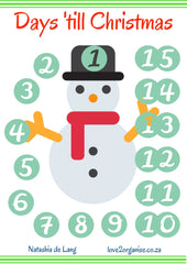 How Many More Days Until Christmas.Free Printable 15 Days Till Christmas Love 2 Organise