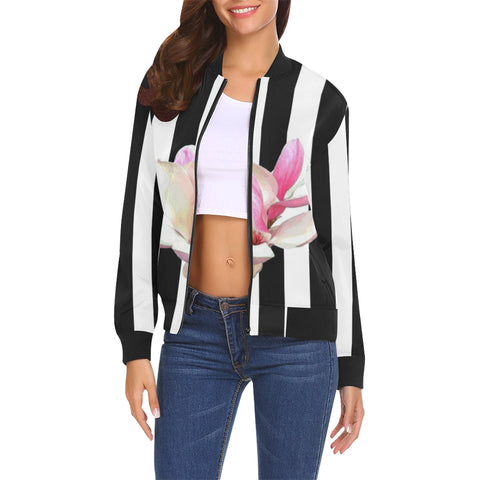 WOMEN'S BOMBER JACKET 06 - IN THE GARDEN