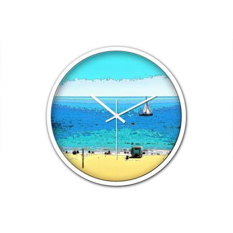 WALL CLOCK / ROUND 03 (W) - AT THE BEACH
