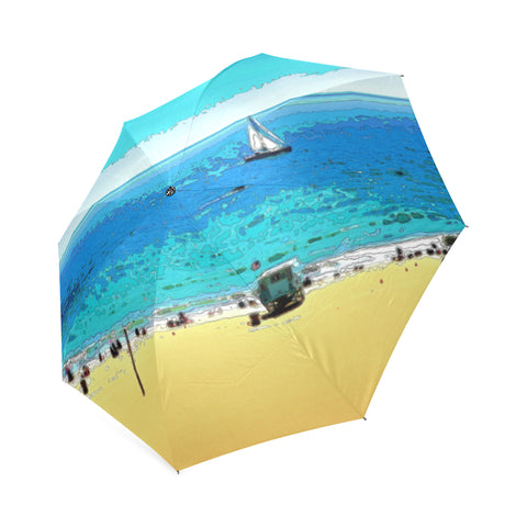 FOLDING UMBRELLA 01 - AT THE BEACH