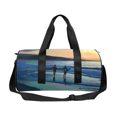 DUFFLE BAG 01 - AT THE WATER'S EDGE / SUNSET SURFERS