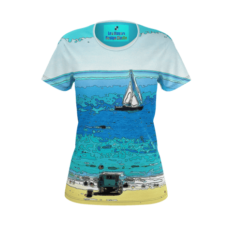 WOMEN'S TEE SHIRT 01 - AT THE BEACH