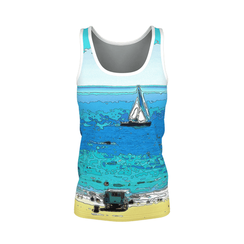 WOMEN'S TANK TOP 01 - AT THE BEACH