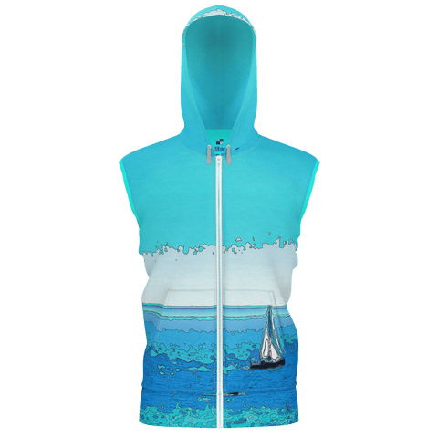 WOMEN'S SWEATSHIRT HOODIE / SLEEVELESS 01 - AT THE BEACH