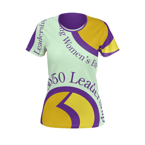 WOMEN'S TEE SHIRT (SHORT SLEEVE) 02 - 50/50 LEADERSHIP