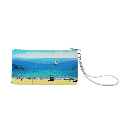 WOMEN'S CLUTCH PURSE WITH A BUILT IN WALLET 01 - AT THE BEACH