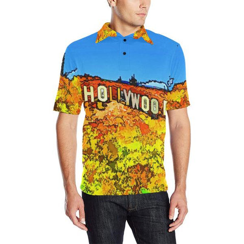 MEN'S POLO SHIRT 04 - AROUND LA / HOLLYWOOD