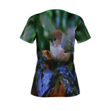 WOMEN'S PIMA COTTON TEE SHIRT 01 - WILD BIRDS UNLIMITED