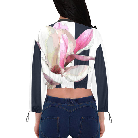 WOMEN'S CROPPED JACKET (CHIFFON) 01 - IN THE GARDEN