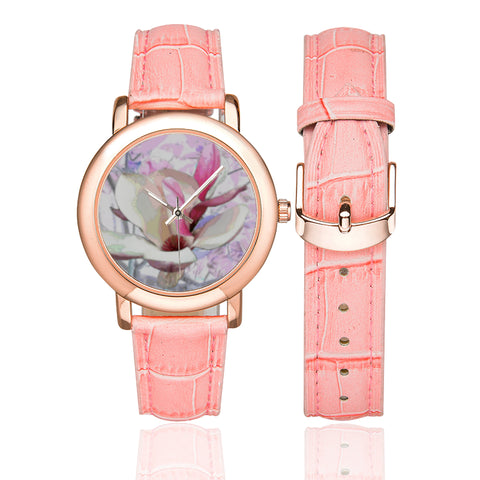 WOMEN'S WATCH WITH PINK BAND 01 - IN THE GARDEN