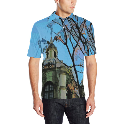 MEN'S POLO SHIRT 5 - AROUND LA / MISSION INN