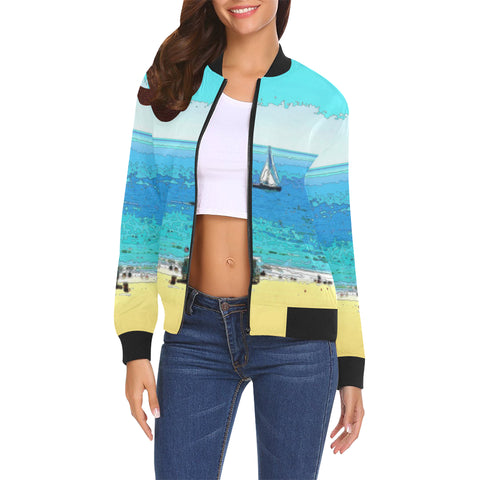 WOMEN'S BOMBER JACKET 03 - AT THE BEACH