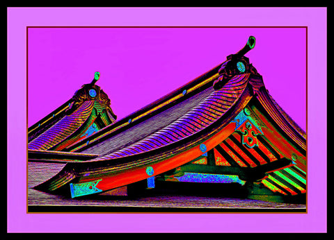 GALLERY ART COLLECTION - RAINBOW ROOF / FUSHIA