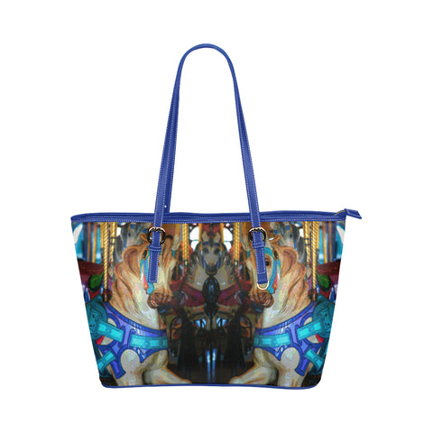 WOMEN'S TOTE BAG (BLUE) 01 - AROUND LA