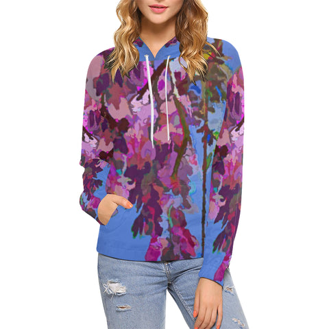 WOMEN'S SWEATSHIRT HOODED 05 - IN THE GARDEN