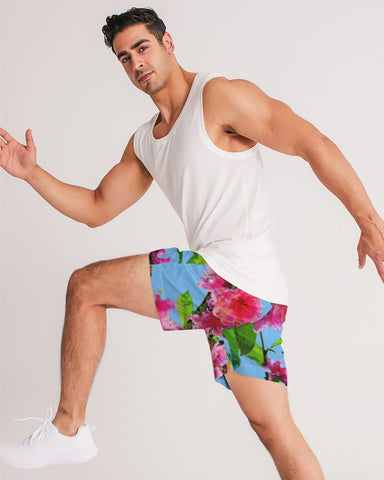 MEN'S JOGGING SHORTS 01 - IN THE GARDEN / PEACH BLOSSOMS