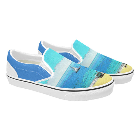 MEN'S CANVAS SLIP ON 01 - AT THE BEACH