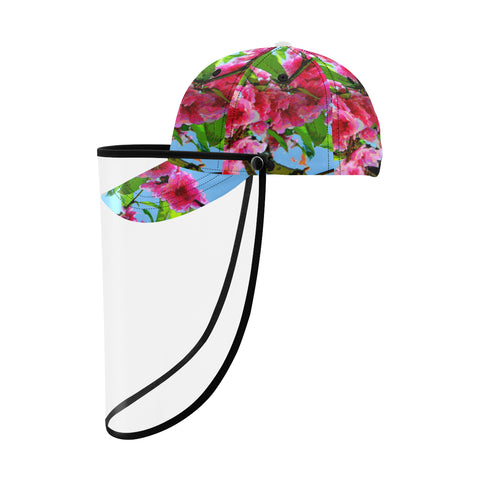 BASEBALL CAP WITH DETACHABLE FACE SHIELD 01 - IN THE GARDEN