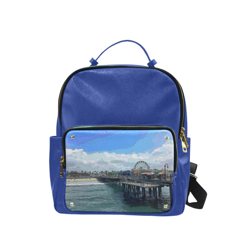 BACKPACK 04 - AROUND LA / SANTA MONICA PIER Leisure Backpack (Model 1650) (Big)