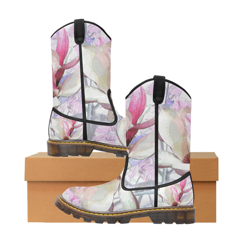 WOMEN'S CANVAS COWBOY BOOTS 02 - IN THE GARDEN