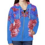 WOMEN'S SWEATSHIRT HOODED WITH ZIPPER FRONT 01 - IN THE GARDEN