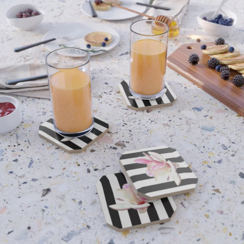 COASTERS (SET OF 4) 01 c - IN THE GARDEN