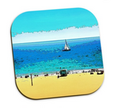 COASTERS (SET OF 4) 01 - AT THE BEACH