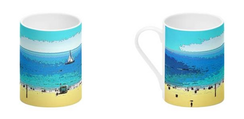 BONE CHINA COFFEE MUG / TALL 01 - AT THE BEACH