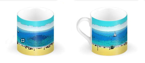 BONE CHINA COFFEE MUG / LARGE 01 - AT THE BEACH