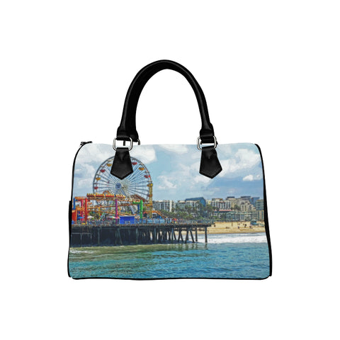 WOMEN'S SATCHEL HANDBAG 07 - AROUND LA / SANTA MONICA PIER