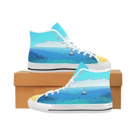 MEN'S CANVAS HIGH TOP 01 - AT THE BEACH