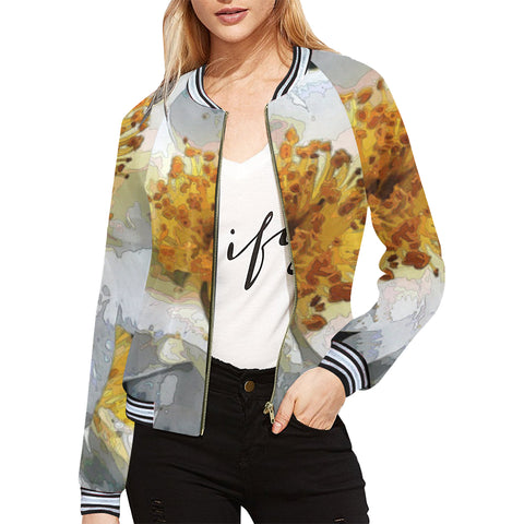 WOMEN'S BOMBER JACKET 11 - IN THE GARDEN