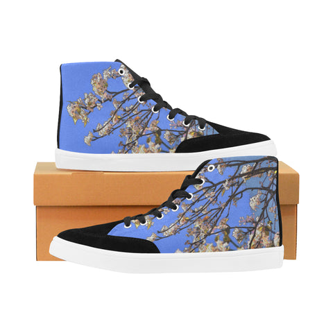 WOMEN'S CANVAS HIGH TOPS 02 - IN THE GARDEN