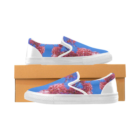 WOMEN'S CANVAS SLIP ON SNEAKERS 03 - IN THE GARDEN