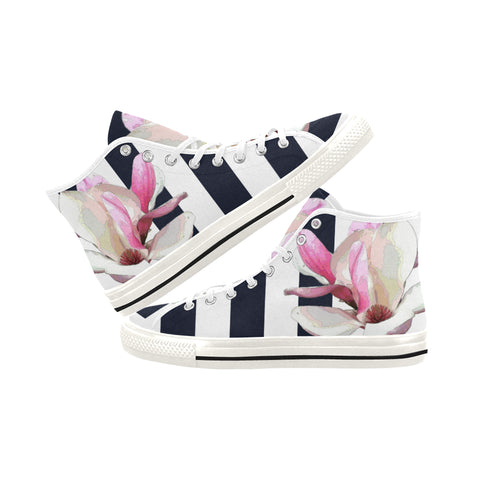WOMEN'S CANVAS HIGH TOPS 04 - IN THE GARDEN